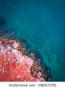 Aerial view of Gantheaume Point in Broome, Western Australia.