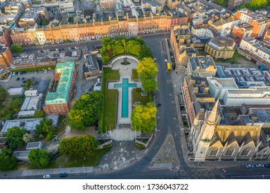 Aerial view of the Garden of Remembrance in Dublin City
