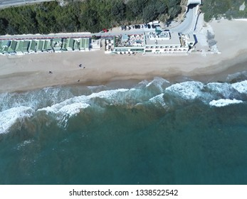 Aerial view of Garraf, Barcelona between Sitges and Castelldefels. Spain.  Drone Photo