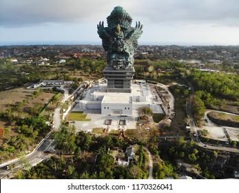 Aerial view of Garuda Wisnu Kencana ( GWK ) Statue, Bali.