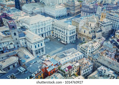 Aerial view of Genoa, Italy