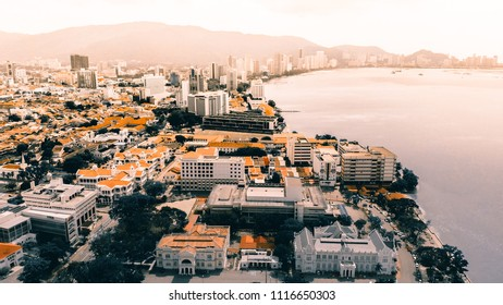 Aerial view of George Town Penang, Malaysia