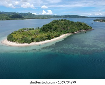 Aerial view of Gili Goleng, Sekotong Lombok, West Nusa Tenggara Indonesia