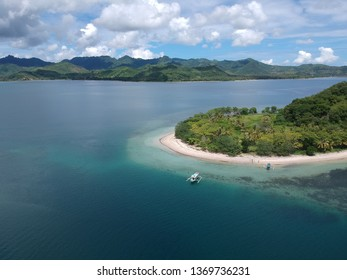 Aerial view of gili island in Sekotong Lombok, West Nusa Tenggara Indonesia