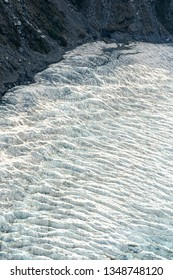 Aerial view of glacier cracks