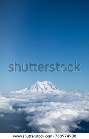 Aerial View Glacier Snow Covered Summit Stock Photo (Edit Now