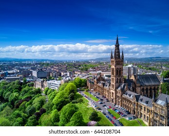 Aerial view of Glasgow, Scotland, UK.