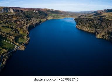 Aerial View of Glencar Lake, County Sligo. Ireland.