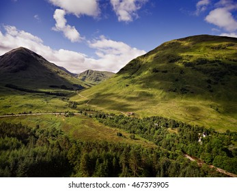 Aerial view of Glencoe from above Signal Rock.
