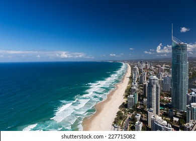 Aerial view of Gold Coast's beaches