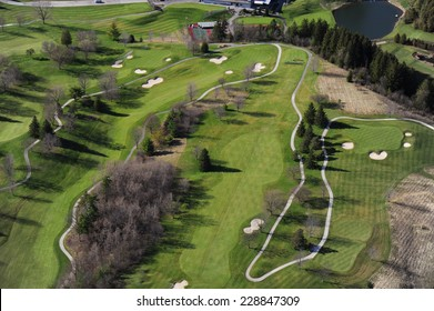 Aerial view of the golf club in southern Ontario
