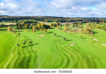 Aerial view for golf course