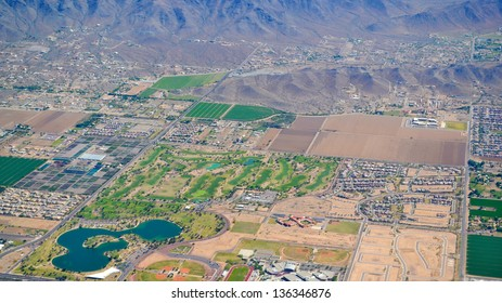 Aerial View of a Golf Course in Phoenix, Arizona