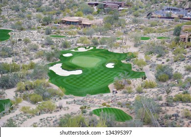 Aerial View of a Golf Course in Scottsdale, Arizona