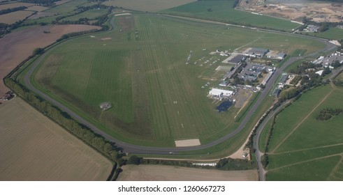 Aerial view of Goodwood Aerodrome and Race Circuit Chichester West Sussex