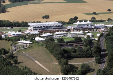 Aerial view of Goodwood Race Course South Downs National Park West Sussex