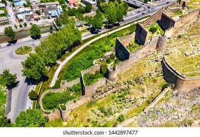 Aerial view of Gori Fortress in the Shida Kartli region of Georgia - Shutterstock ID 1442897477