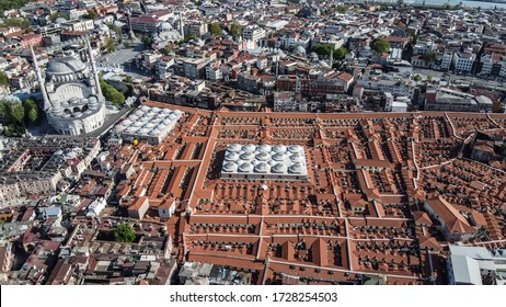 Aerial view of Grand Bazaar in Istanbul