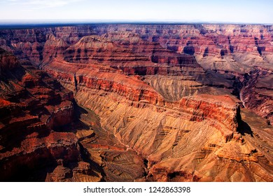 Aerial view of the Grand Canyon and Colorado River, Dragon Corridor, Arizona, USA