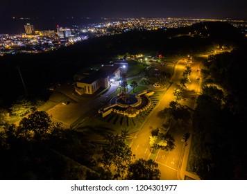 Aerial View of The Grand Old Lady Miri, Sarawak.