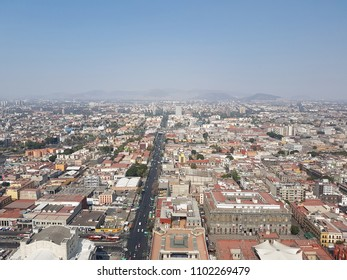 aerial view of the great city skyline of mexico