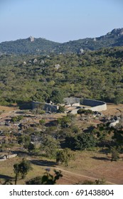 Aerial view of the Great Enclosure, Great Zimbabwe,