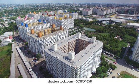 Aerial view group of high rise residential apartments in Bangkok, Thailand