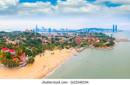 Aerial view of Gulangyu Island, Fujian Province, China