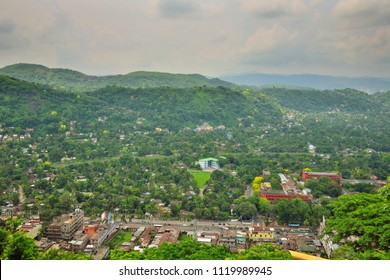 Aerial view of Guwahati city from  Nilachal Hills.