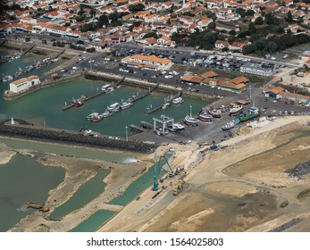 aerial view of the harbor