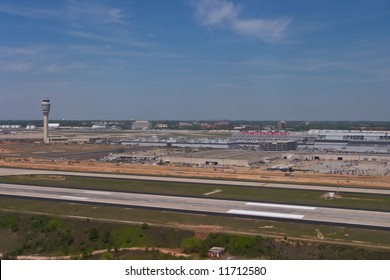 Aerial view of Hartsfield-Jackson Atlanta International Airport