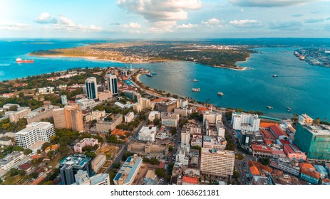 aerial view of the haven of peace, city of Dar es Salaam