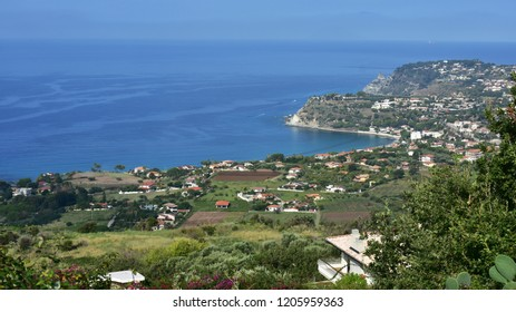 aerial view of headland  Capo Vaticano in south of Calabria in Italy