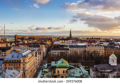 Aerial view of Helsinki, capital of Finland