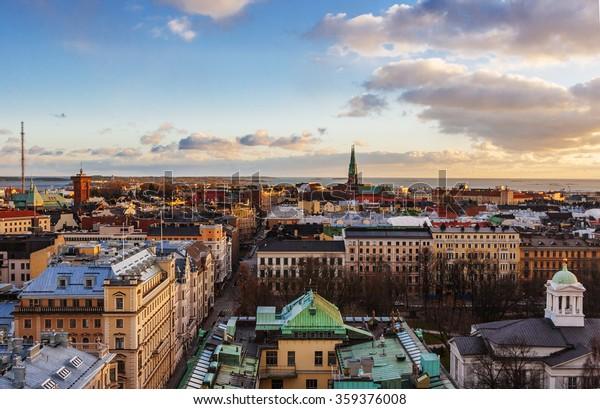 Vue aérienne d'Helsinki, capitale de la Finlande