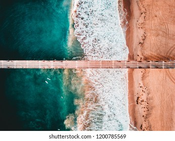 Aerial View of Hermosa Beach Pier, California