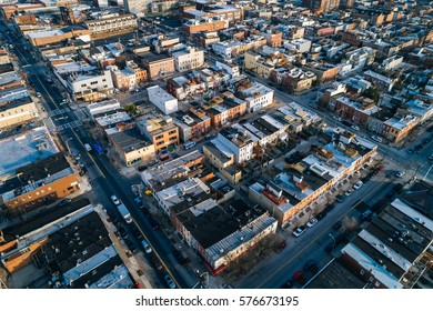 Aerial view of Highlandtown, in Baltimore, Maryland.
