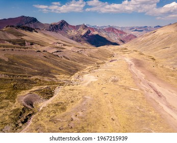 Aerial view of high-mountain landscape in Andes, South America