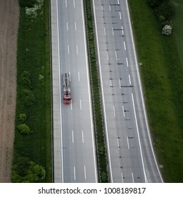 aerial view of highway in germany