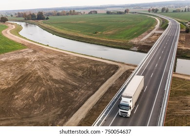 aerial view of the highway in Poland