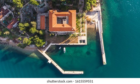 Aerial view - hill of Marjan, Split, Croatia