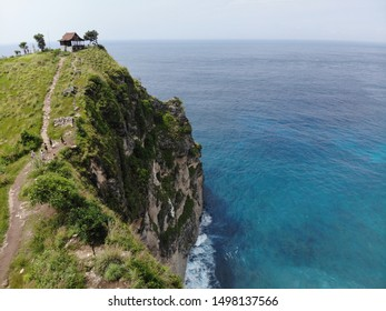 Aerial view of a hill in Nusa Penida Island Bali Indonesia