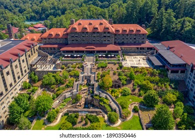 Aerial view of historic mountain resort in Asheville North Carolina
