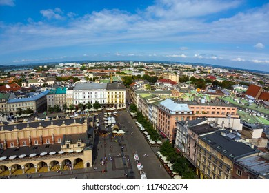 Aerial View of historical City in sunny weather with curved horizon