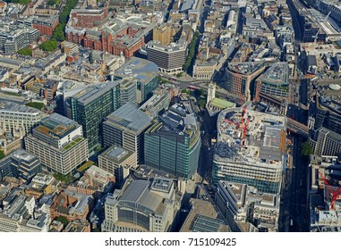 Aerial view of the Holborn area of Central London