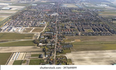 Aerial view of Hoogkarspel, Netherlands.