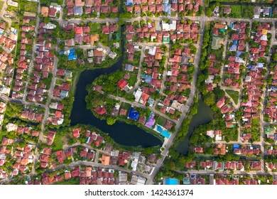 aerial view of house real estate for residential