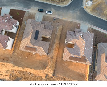 Aerial View of houses in the suburbs
