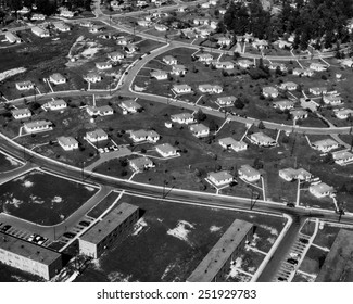 An Aerial view of housing development in Oak Ridge, Tennessee, 1955. Photo by Ed Westcott.