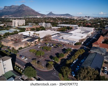 Aerial view of Howard Centre Shopping Mall in Pinelands, Cape Town, Western Province, South Africa. 15 September 2021.